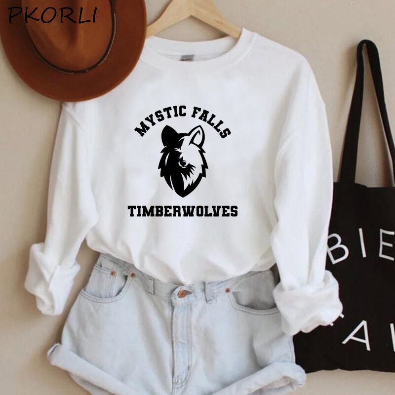 The Vampire Diaries Hoodies Women MenTeam Stefan Salvatore Sweatshirt Mystic Falls Salvatore 17 Printed Women's Clothing 15