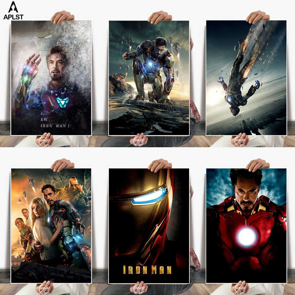 I AM IRON MAN Avengers Canvas Posters Wall Art Home Decor Pictures Prints Paintings for Bar Cafe Bedroom Dormitory Living room