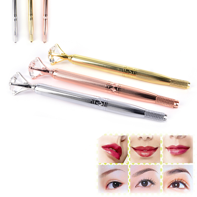 Manual Crystal Tebori Eyebrow Tattoo Pen Permanent Makeup Pen Machine Microblade Pen For Lip And Eyebrow Tattoo Equipment