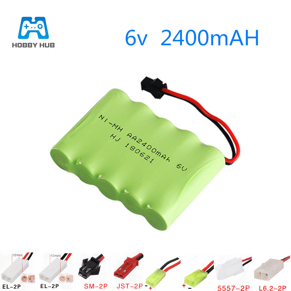 NEW 6V 2400mAh NI-MH Battery for Remote Control toys Cars Tank lighting secuity Rechargeable battery 6.0 v 2400 mah AA nimh