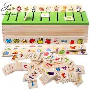Image 3 - Montessori Early Educational Puzzles Toys Children Intelligence Learning Puzzle Wooden Creature 3D Kids Sorting Math Puzzle