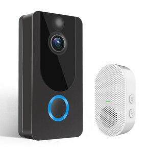 Image 1 - GEEKAM 1080P WiFi וידאו פעמון V7 חכם IP וידאו אינטרקום משלוח ענן הקלטת עבור דירה IR מעורר אבטחה אלחוטית מצלמה