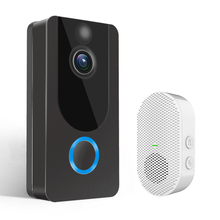 GEEKAM 1080P WiFi Video Doorbell V7 Smart IP Video Intercom Free Cloud Recording For Apartment IR Alarm Wireless Security Camera