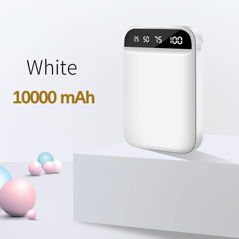 10000mAh White
