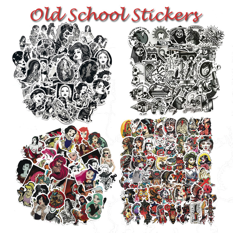 30/50PCS/Set Tattoo Girl Sticker Pvc Waterproof Fashionable Styling Sexy Beauty Girl For Laptop Luggage Guitar Decal Toy Sticker