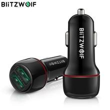 BlitzWolf 18W çift QC3.0 USB bağlantı noktası Mini hızlı şarj araç şarj cihazı iPhone 11 Pro XS/Xiaomi/pocophone F1 cep telefonu