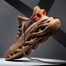 Мужской сетка бег обувь любовник кроссовки женщины дышащий спорт обувь высокое качество мужской тренировочный обувь плюс размер 36-46