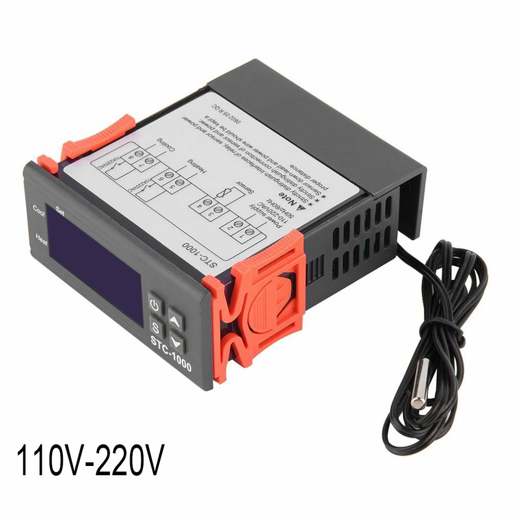 Thermostat Stc-1000 ABS Aquarium Hatching Seafood Machine Electronic Digital Microcomputer Temperature Controller Switch 1 Piece