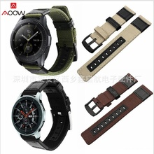 20mm 22mm Nylon Watchband for Samsung Galaxy Active 42mm 46m