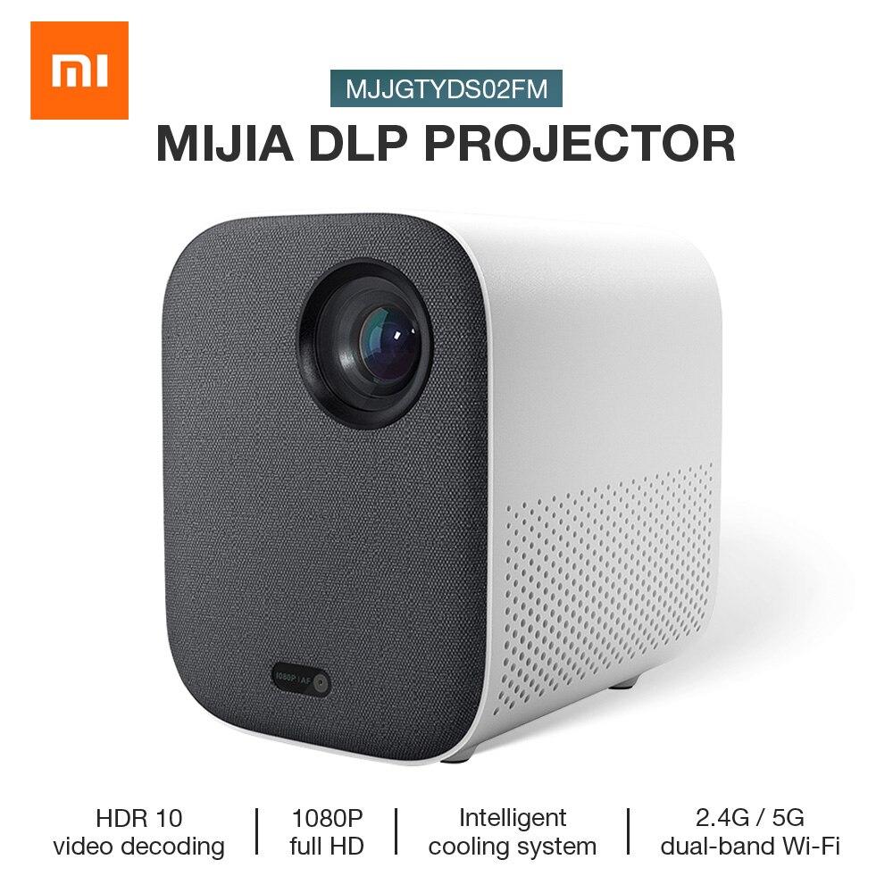Nouveau Xiaomi Mijia DLP Mini projecteur intelligent 500ANSI Home cinéma 1080P commande vocale 2GB 8GB 5G WiFi 3D projecteur de cinéma Dolby LED