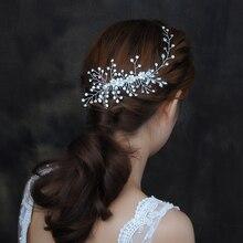 TRiXY Н15 Великолепные Головные Уборы Классические Волосы Vine Алмазный Гребень Свадебные Аксессуары Ювелирные Изделия Головной Убор Для Невесты Невесты