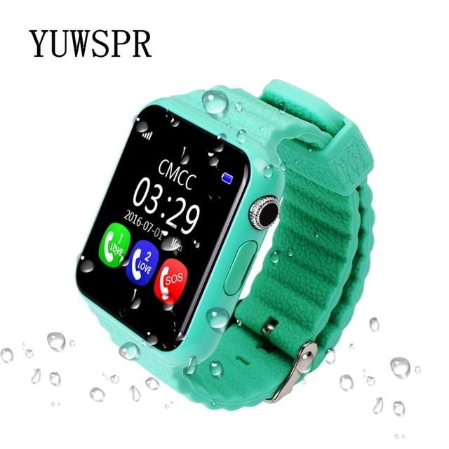 Children tracker watch V7K waterproof camera SOS Call Location Devicer kids GPS Tracking watches Clock V7K 1PCS