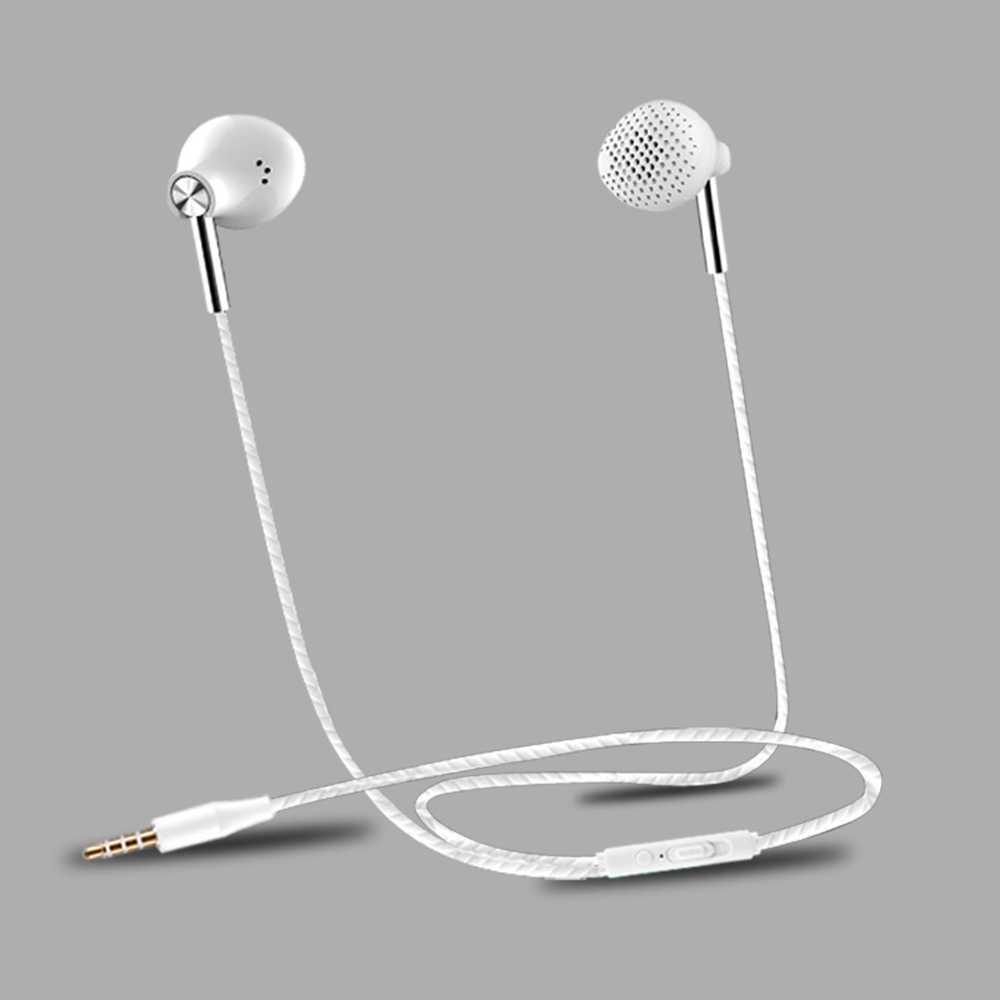 KISSCASE w słuchawkach dousznych kontrola przewodowa bas radiowy zestaw słuchawkowy z mikrofonem dla iPhone Samsung Xiaomi Huawei auriculares fone de ouvido