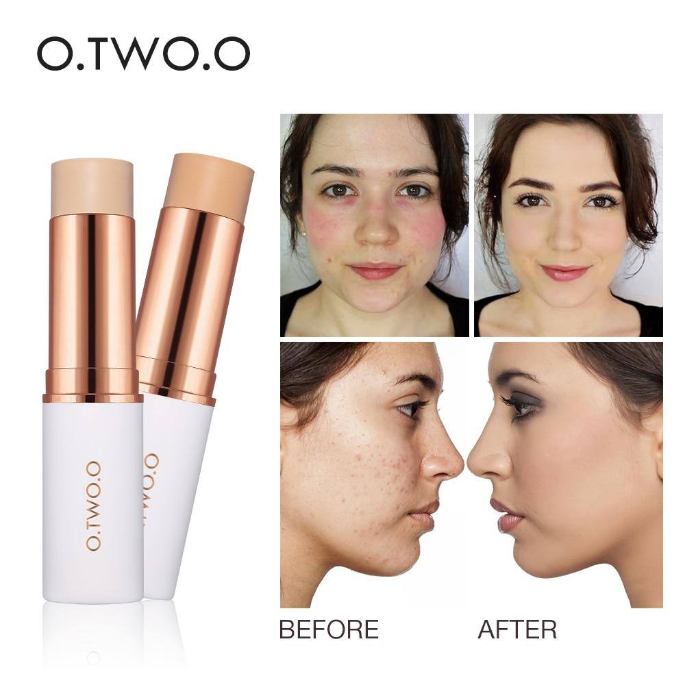 O.TWO.O Concealer Stick Foundation Makeup Full Coverage Contour Face Concealer Cream Base Primer Moisturizer Hide Blemish