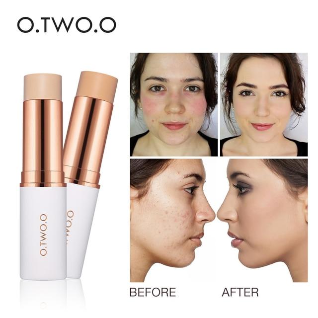 $ US $2.79 O.TWO.O Concealer Stick Foundation Makeup Full Coverage Contour Face Concealer Cream Base Primer Moisturizer Hide Blemish