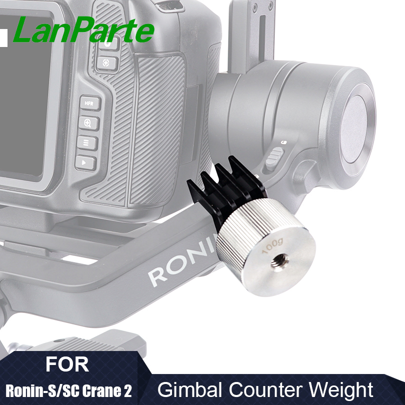 LanParte Ronin S SC Gimbal Counterweight (25g*2 & 100g) For DJI Gimbal Accessories For Blackmagic BMPCC 4K