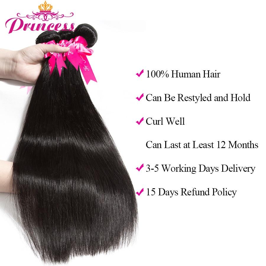 H87b12e4a75414d36a7ae16cc9c8fe61aR Beautiful Princess Peruvian Straight Hair 3 Bundles With Closure Double Weft Remy Human Hair Bundles With Lace Closure
