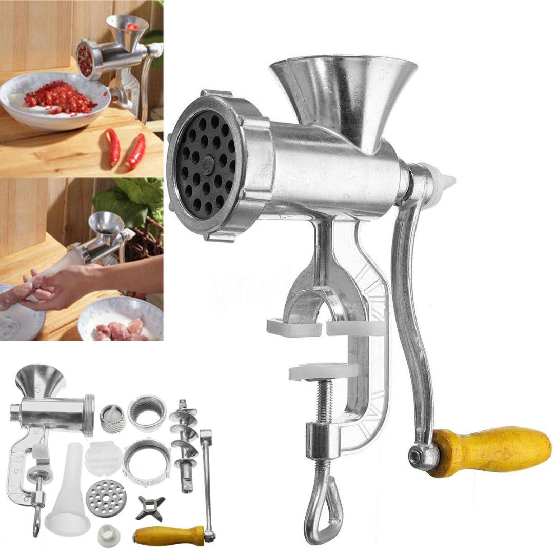 Manual Meat Grinder & Sausage Noodle Dishes Handheld Making Gadgets Mincer Pasta Maker Crank Home Kitchen Cooking Tools