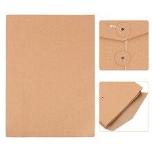 10pcs Kraft Paper Project Envelope File Folder Bags Document Bills Storage Bag