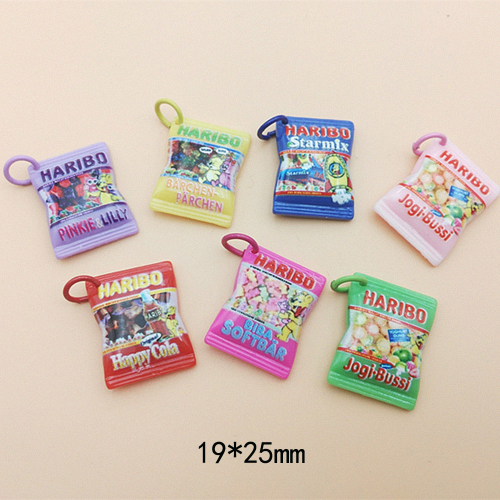 10Pcs Japanese Cartoon Simulation Candy Flatback Cabochon Resin Charms Scrapbooking Fit Phone DIY Embellishments Accessories