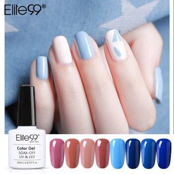 Elite99 Blau Farben Nagel Gel Polnisch Für Nail art DIY Design Lange-Lastig Tränken-weg UV Nagel Gel lack Maniküre 10ML Gel Lack