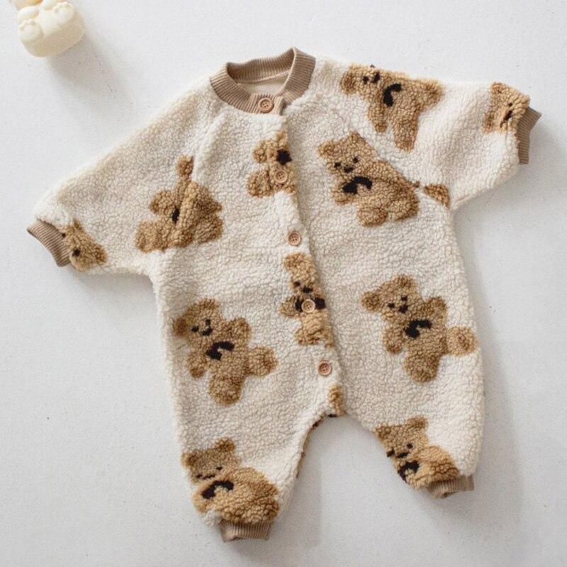 2020 детские комбинезоны MILANCEL в стиле медведя, Комбинезоны для маленьких мальчиков, одежда для девочек с одной грудью, флисовый Детский костюм 3