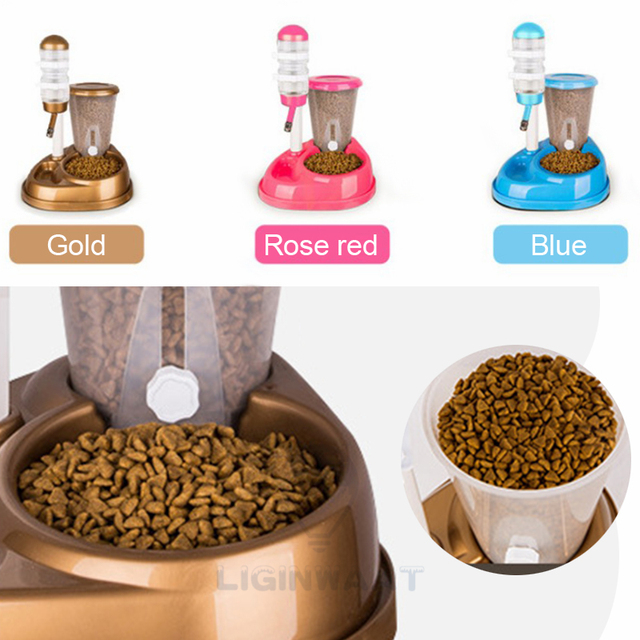 Dual Use Automatic Cat/Dog Feeder with  Water Fountain  2