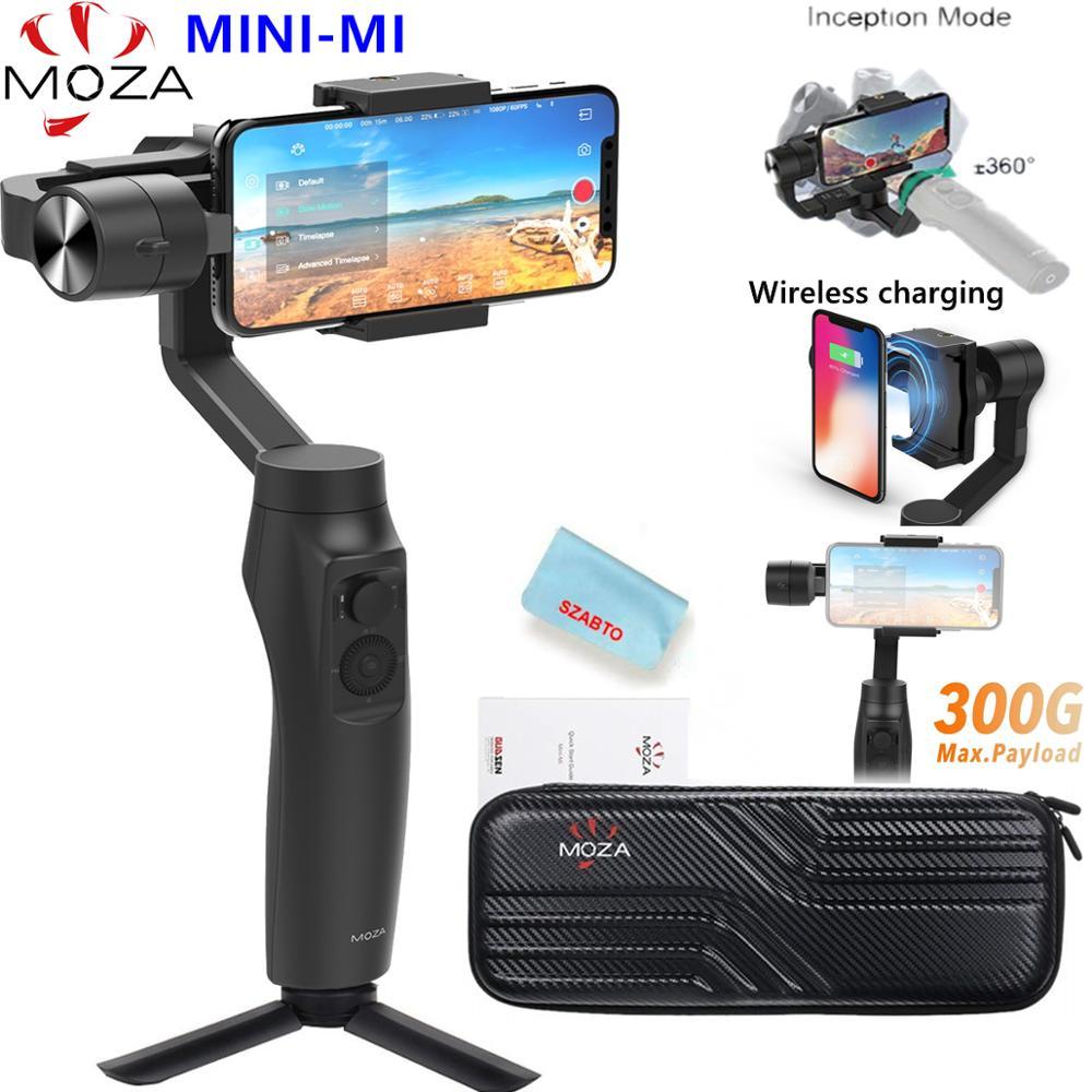 Estabilizador para Iphone Moza Mini Handheld Smartphone Cardan x 8 Plus 7 6 s Samsung s9 s8 s7 vs Zhiyun Suave 4 Vimble 2 mi 3-axis