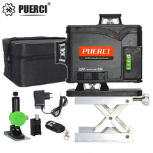 PUERCI P16CG 16 Lines 4D Laser Level Self-Leveling 360 Horizontal And Vertical Cross Super Powerful Green