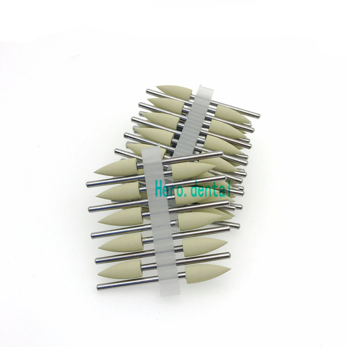 Type 406 Dental Silicone Rubber Resin Base Hidden Denture Polishing Burs 50pcs