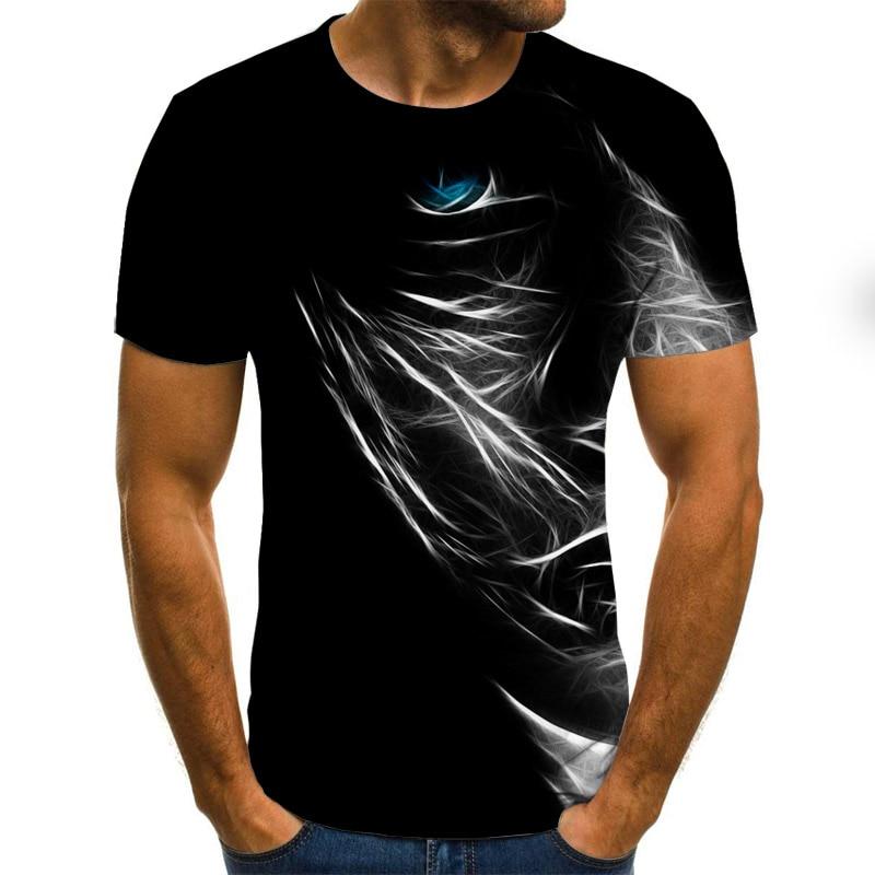 Women Mens 3D Geometric Print T-Shirt Casual Short Sleeve Round Neck Funny Tee