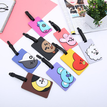 Luggage Card Cartoon Card Set Plane Luggage Tag PVC Silicone Luggage Tag Bag Tag Cartooon