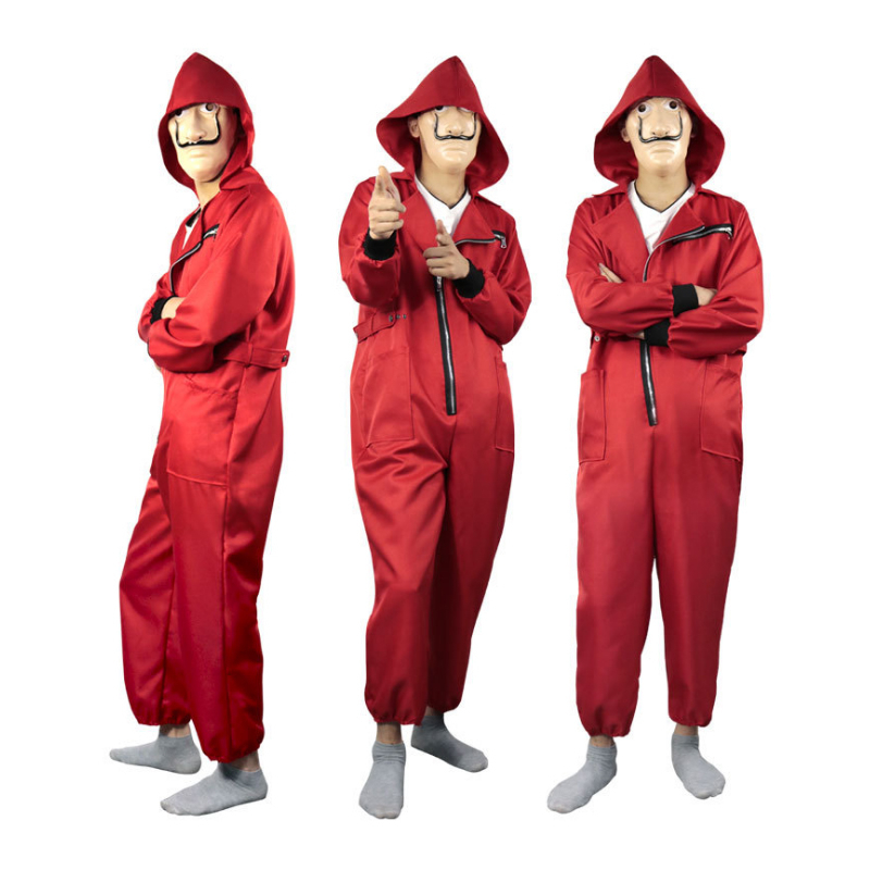 Movie TV The House Of Paper La Casa De Papel Cosplay Costume Mask Money Heist Third Season Party Adult Halloween Jumpsuits CS006