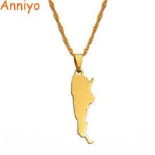 Anniyo argentyna mapa wisiorek i naszyjniki dla kobiet charms w kolorze złota argentyńskie mapy biżuteria patriotyczne prezenty #018121