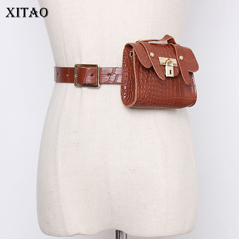 XITAO Trend New Corset Belt For Women Fashion Chain Belt Bag Wild Streetwear Cummerbunds Dual Purpose Accessory 2020 GCC3117