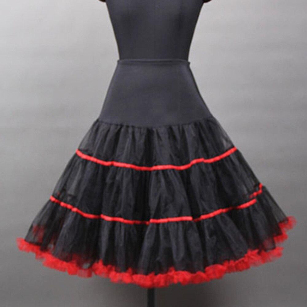 Black Vintage Skirt Underskirt For Wedding Party Women High Waist Puffy Ball Gown Retro Rockabilly Swing Petticoat Underdress