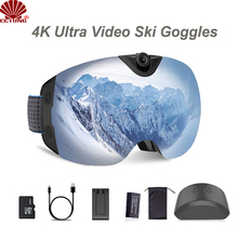 4K Ultra Video Ski-Sunglass Goggles Camera with Super 1080P 60fps Video Recording Anti-Fog Snowboard UV400 Protection Lens cheap cctung About 24MP SONY IMX230 (1 2 4 21 MP) Hisilicon Hi3559V100 (4k 30FPS) F2 0 101g-150g 0 03 Without Screen 1 3 inches