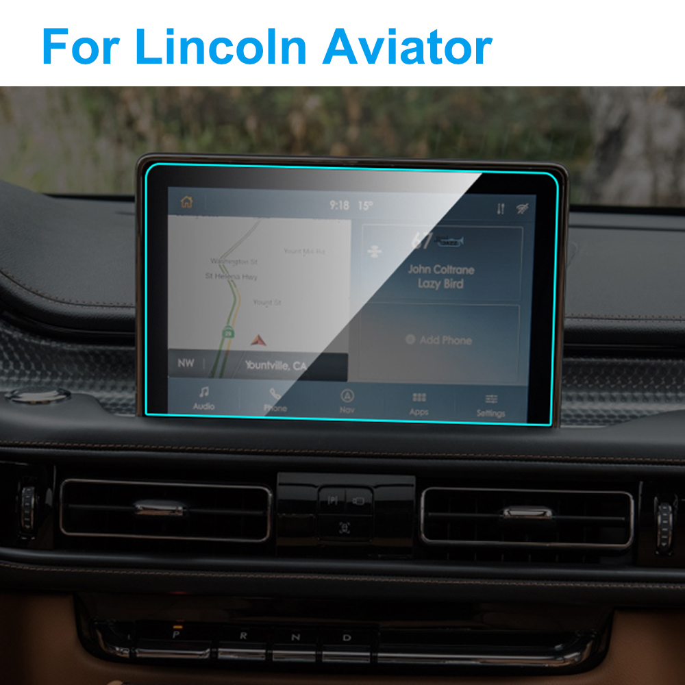 Car GPS Navigation Screen Protector For Lincoln Aviator 2019 Interior Tempered Glass Screen Protective Film Auto Car Accessories
