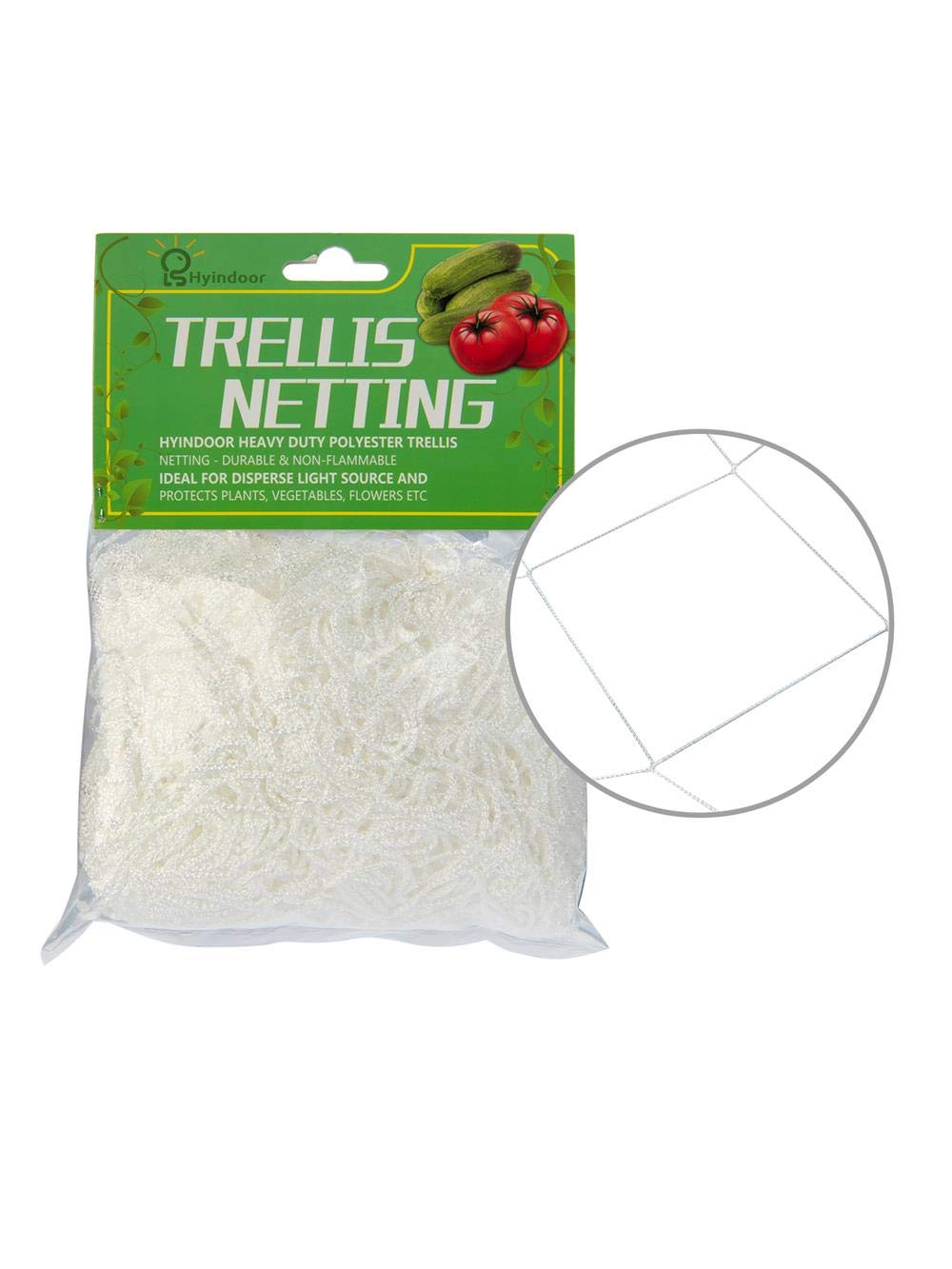 Hyindoor  Grow Tent Trellis Net Garden Polyester Heavy-Duty Plant 6