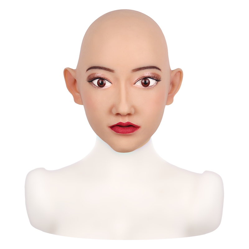 Sivir Face Mask Realistic Soft Silicone Female Mask for Masquerade Halloween Mask For Crossdresser Drag Queen Transgender 1G  - buy with discount