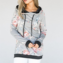 купить Women's Hoodie Long Sleeve Pullover Sweater Sweatshirt Jumper Floral Tops Casual по цене 1128.72 рублей