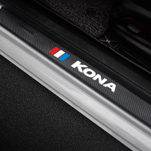 Stickers Car-Accessories Hyundai Kona Pedal-Cover Trim for Car-Door-Sill-Plate 4pcs Ev