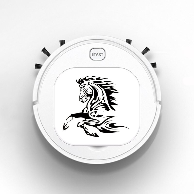 Auto USB Sweeping 1800Pa Multifunction Smart Robot Vacuum Cleaner Dry Wet Floor Cleaner Animal Tattoo Horse Stallion Fashion