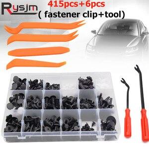 Image 1 - 415Pcs Car Auto Push Pin Rivet Trim Vehicle Body Plastic Push Pin Rivet Fastener Trim Clip Repair Assortment Kit for BMW E46 E39