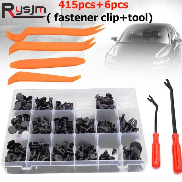 415Pcs Car Auto Push Pin Rivet Trim Vehicle Body Plastic Push Pin Rivet Fastener Trim Clip Repair Assortment Kit for BMW E46 E39