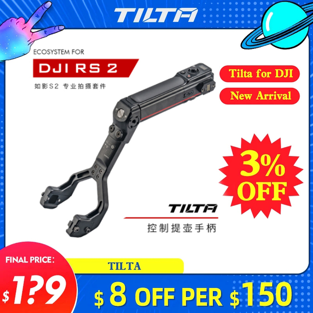 TILTA TGA ARH DJI RS 2 Ronin RS2ยิงชุด Professional Dual Handle แหล่งจ่ายไฟด้านหลังอัตรากำไรจากควบคุมสำหรับ฿2