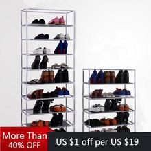 2/4/6/8/10 camada sapato rack multi-funcional sapatos organizador de armazenamento não tecido multi camadas de armazenamento doméstico rack espaço saver
