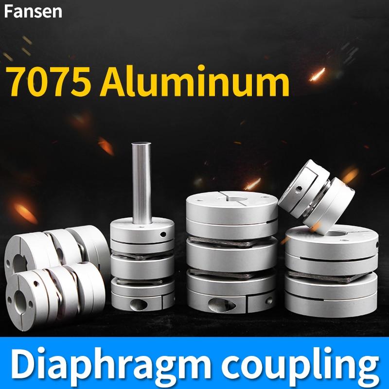 shaft coupler Diaphragm Coupling Aluminum Connector Alloy Flexible Single Double Diaphragm Laminated Servo Motor Screw d3~45mm