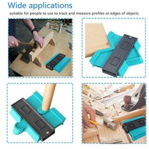 Image 2 - Vastar 5 inch Plastic Gauge Contour Profile Copy Gauge Duplicator Standard Width Wood Marking Tool Tiling Laminate Tiles General