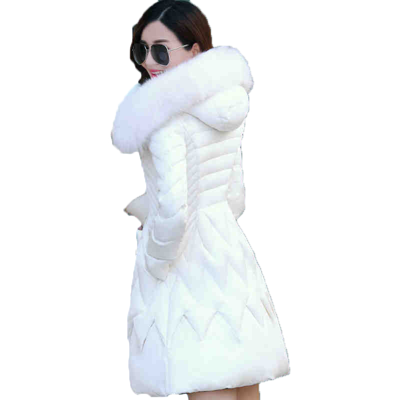 Coat Down Winter Jacket Women 70% White Duck Down Ultra Warm Skirt Bottom w/ Hood Soft Fur doudoune femme Woman Coat Parka XC012